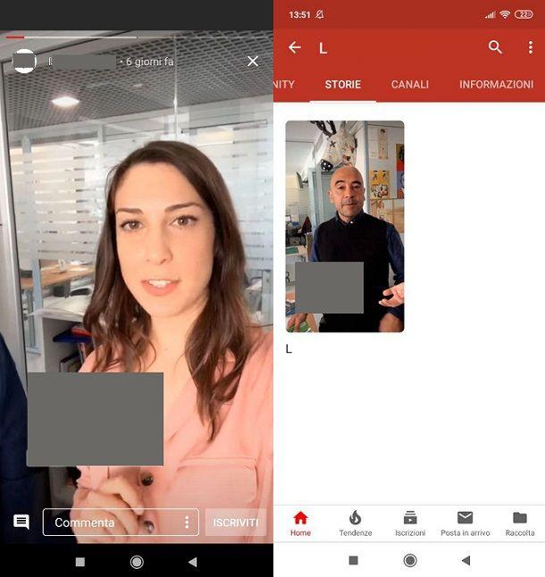 Visualizzare le Storie YouTube