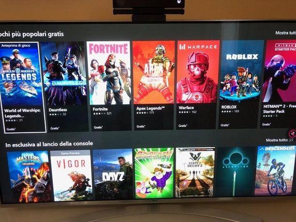 Xbox videogiochi gratis