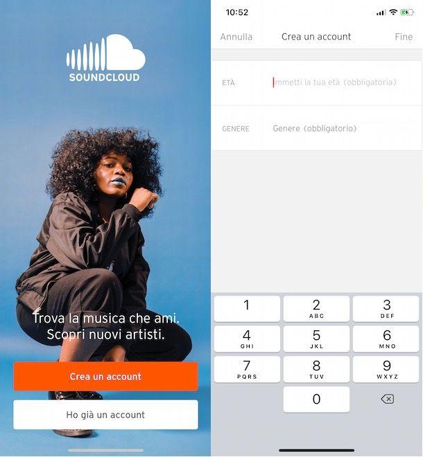 Registrarsi su SoundCloud