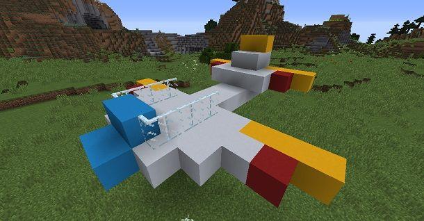 Aereo Minecraft rudimentale