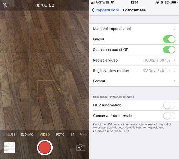 App Fotocamera iOS