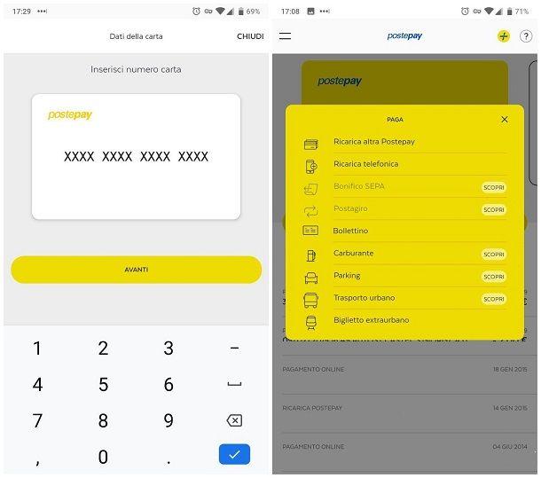 Come ricaricare Postepay di un altro online tramite smartphone e tablet