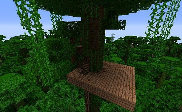 Base casa sull'albero Minecraft
