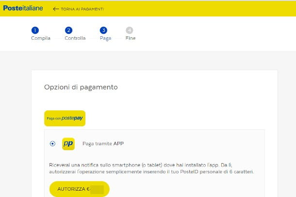 Come pagare bolletta Enel online Poste - PC