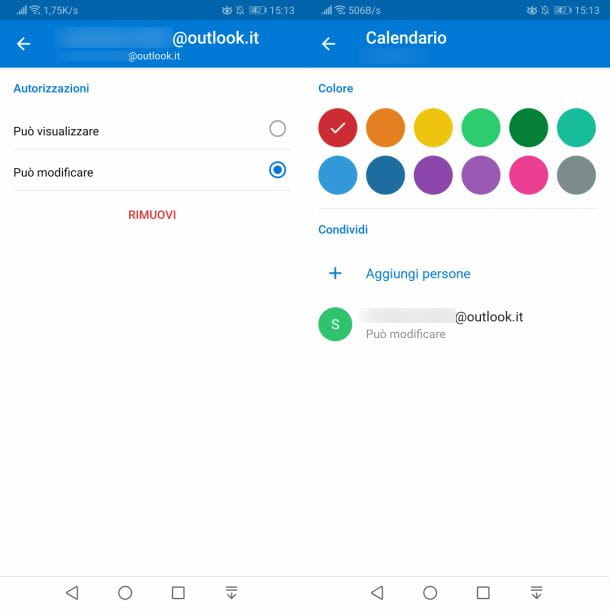 Calendario Outlook Android