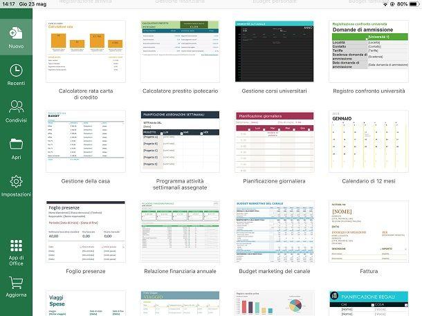 Calendario automatico Excel ipad