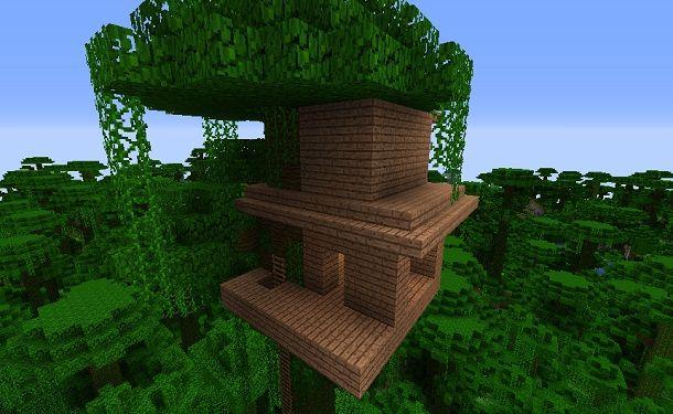 Casa sull'albero su più piani Minecraft