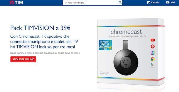 TIMvision gratis con Chromecast