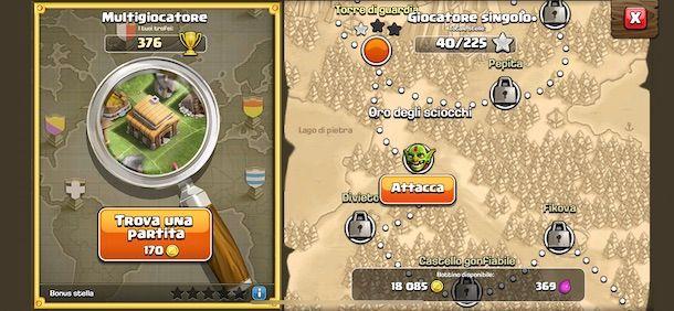 Attaccare su Clash of Clans