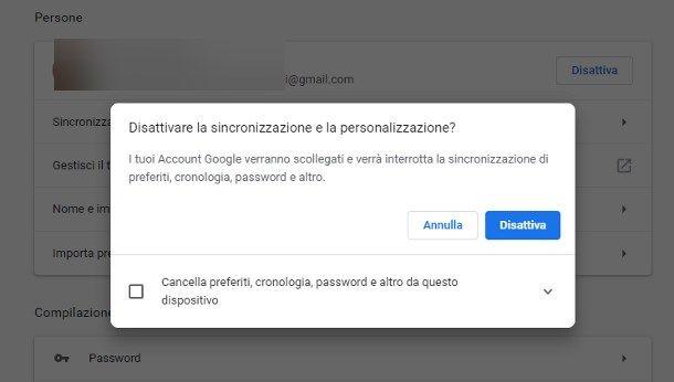 Come impostare account Google predefinito nel browser