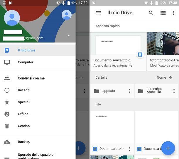 Come funziona il cloud di Google (Google Drive)