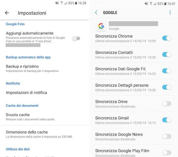 Disattivare sincronizzazione Google Drive su Android