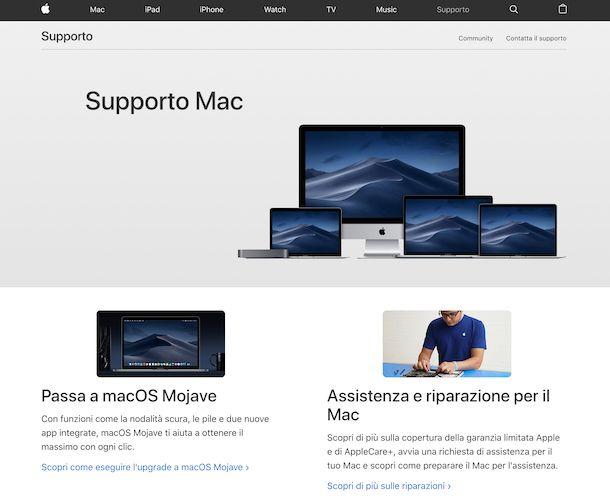 Soporte de Apple para Mac