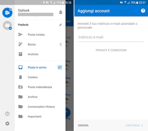 App Outlook Android