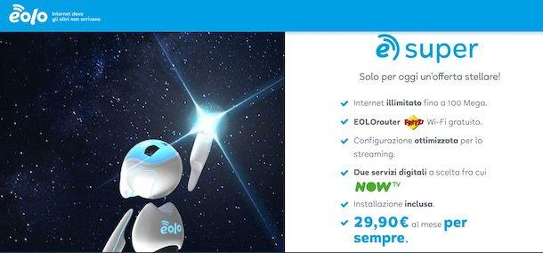 Promo NOW TV con EOLO