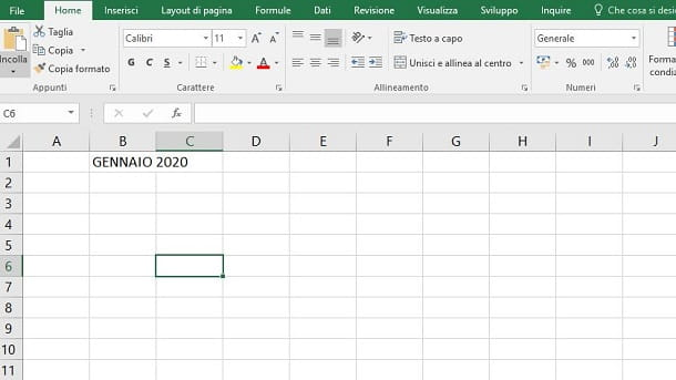 Calendario In Excel 2020.Come Creare Un Calendario In Excel Salvatore Aranzulla