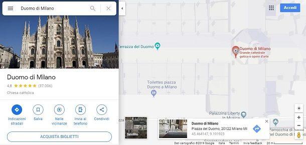 google maps visualizzare coordinate browser