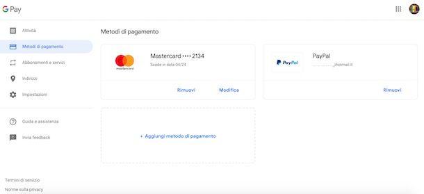 Pagare Google Pay con PayPal