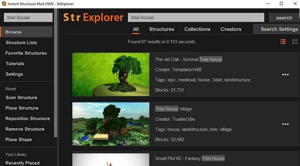 ISM casa sull'albero Minecraft