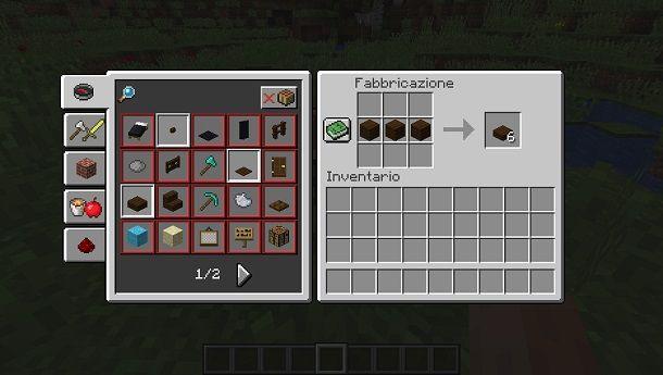 Lastre legno Minecraft