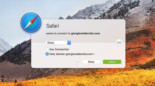 Monitorare le attività di rete - Mac