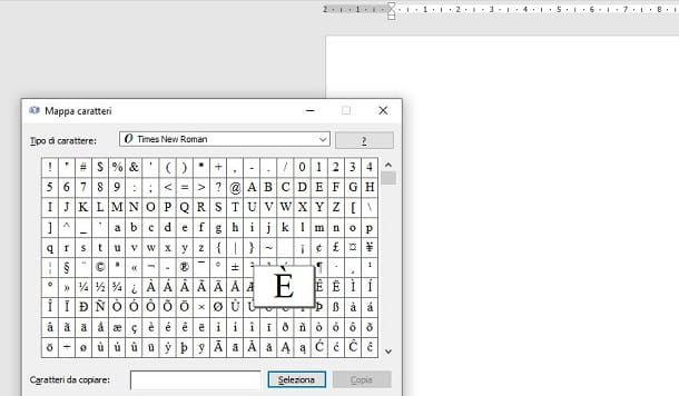 Mappa caratteri Windows