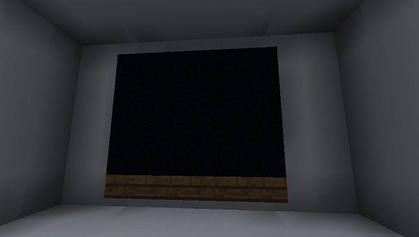 pannello TV nero minecraft