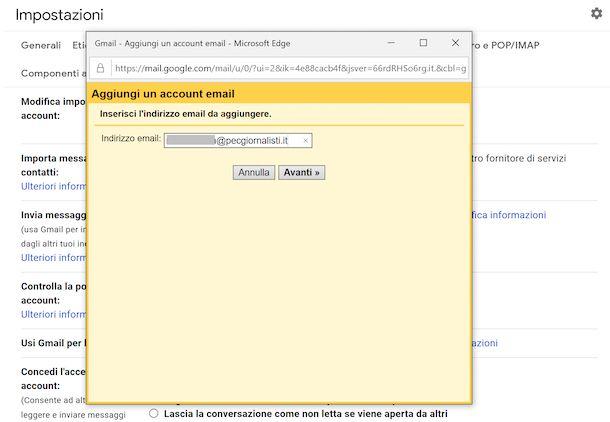 Inviare PEC con Gmail da Web