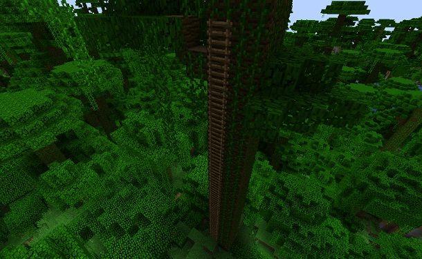 Scala sull'albero Minecraft