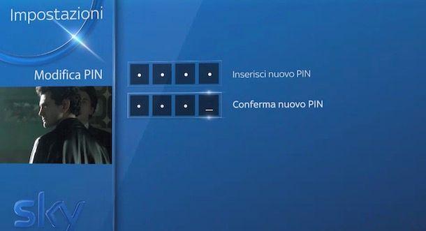 Codice PIN Sky Q
