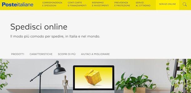 Spedizione online Poste Italiane