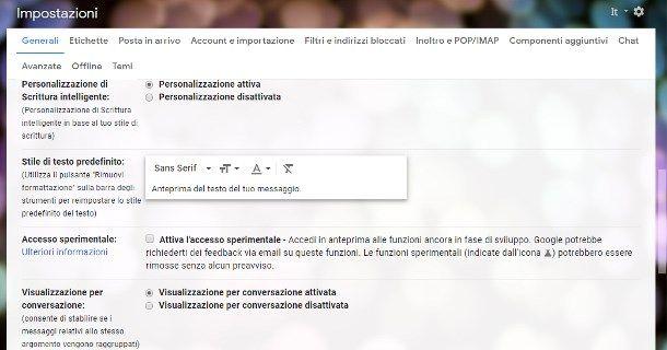 Come ingrandire i caratteri della posta elettronica Gmail