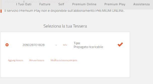 Come dissociare tessera Mediaset Premium