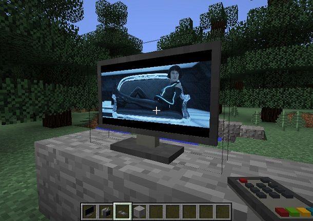 TV funzionante Minecraft