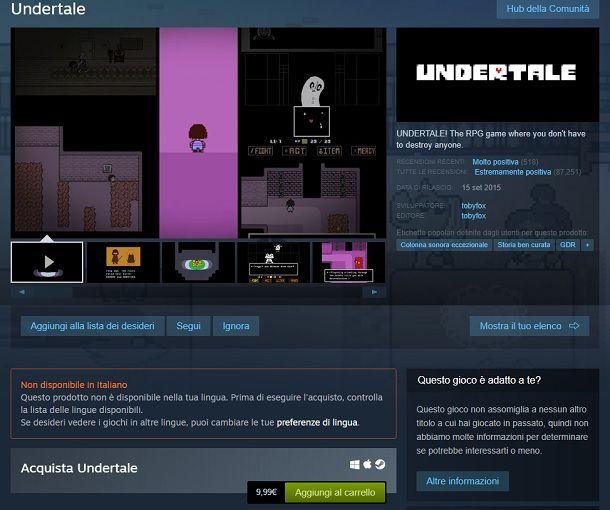 Undertale Steam