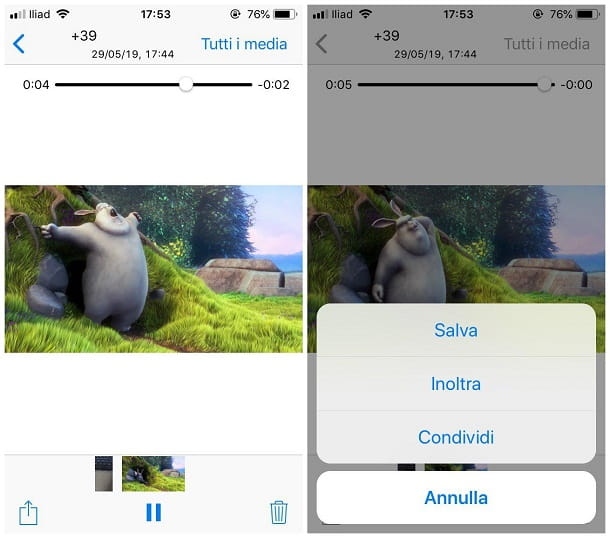 Come salvare video da WhatsApp su iPhone