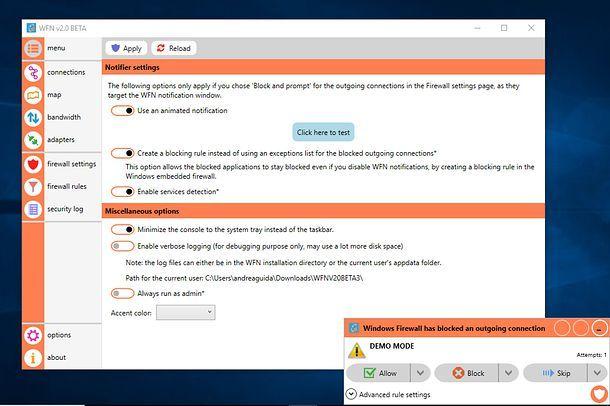 Monitorare le attività di rete - Windows