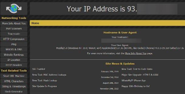 Come sapere se l'IP è pubblico o privato