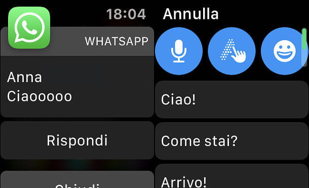Notifica WhatsApp su Apple Watch