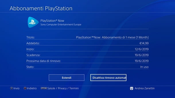 Come disdire PlayStation Now da PS4