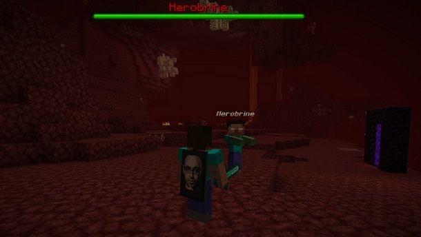 Come spawnare Herobrine Minecraft
