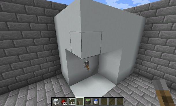 Costruzione interruttore doccia Minecraft