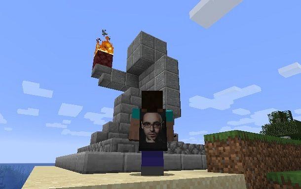 Esempio statua Minecraft