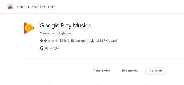 Estensione Google Play Musica per Google Chrome