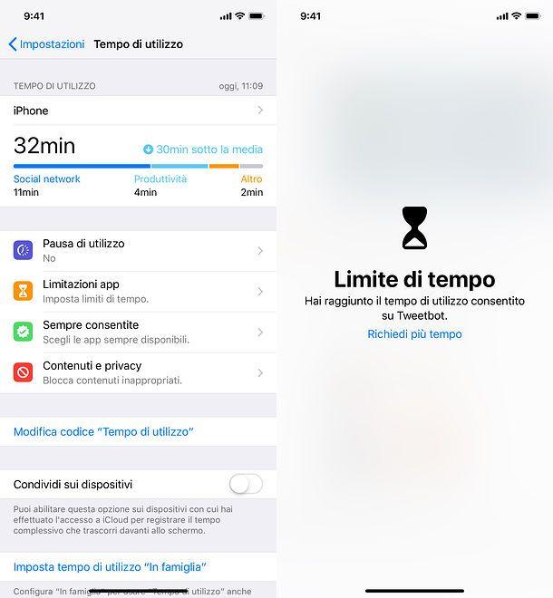 Blocco app iPhone