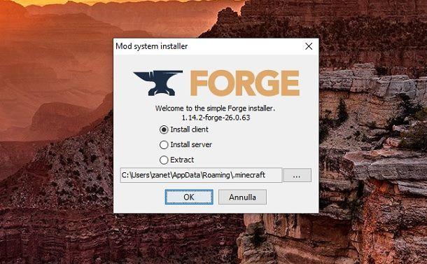 Forge Minecraft Installer