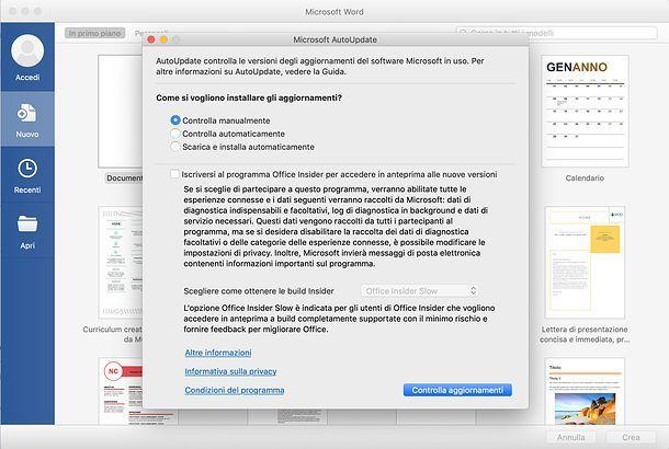 Come aggiornare Word su Mac