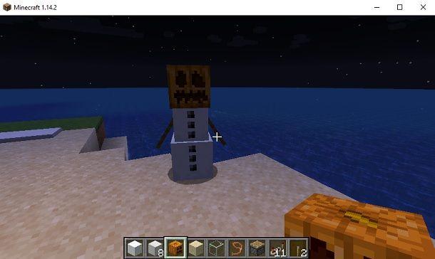 Golem di neve Minecraft