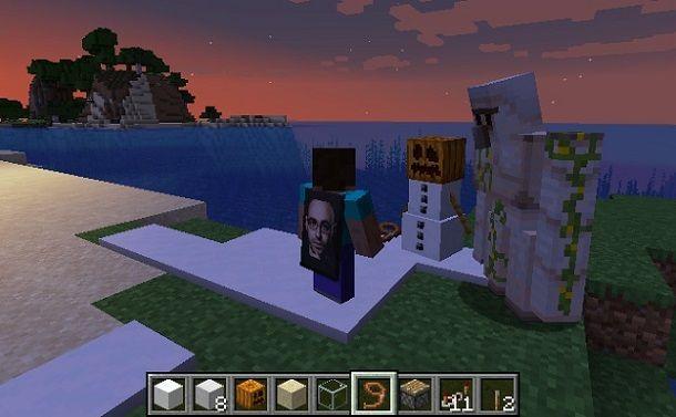Golem di neve e golem di ferro Minecraft