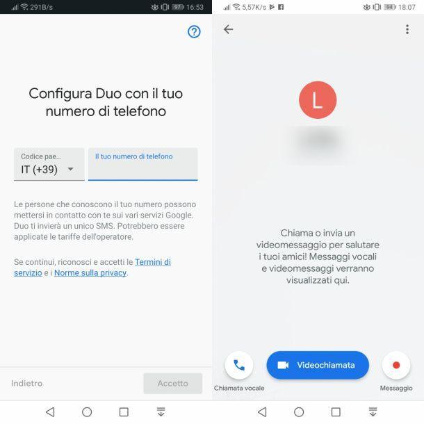 Google Duo per telefonare